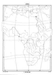 obrysova mapa Afrika